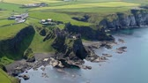 castello : Flight around Dunluce Castle in North Ireland