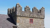 castello : Old medieval ruins of Castle Ward in Northern Ireland Filmati Stock