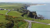 castello : Aerial view over famous Dunluce Castle in North Ireland
