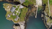 história : Flight over Fort Dunree at Dunree Head in Ireland