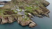 ilhas : Beautiful Dunree Head in Ireland from above