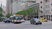 michigan : Michigan Avenue street view in Chicago - CHICAGO, UNITED STATES - JUNE 11, 2019