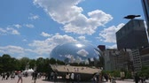 michigan : Famous Cloud Gate at Millennium Park in Chicago - CHICAGO, UNITED STATES - JUNE 11, 2019