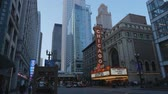 arranha céus : Famous Chicago Theater at State Street former Balaban and Katz Theater - CHICAGO, UNITED STATES - JUNE 11, 2019