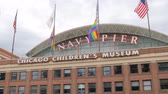 michigan : Navy Pier in Chicago - a popular landmark in the city - CHICAGO, USA - JUNE 14, 2019 Stock Footage