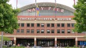 Navy Pier in Chicago - a popular landmark in the city - CHICAGO, USA - JUNE 14, 2019 Stok Video