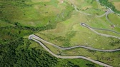 スイス : Furka pass in the Swiss mountains - Switzerland from above