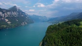 szczyt : Wonderful nature of Switzerland - the Swiss Alps from above Wideo