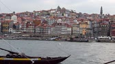 ポルトガル : Beautiful Porto - Douro River in the historic district - CITY OF PORTO, PORTUGAL - SEPTEMBER 18, 2019 動画素材