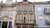 ポルトガル : Beautiful mansions in the city of Aveiro - CITY OF AVEIRO, PORTUGAL - SEPTEMBER 18, 2019 動画素材