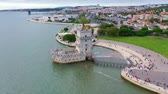 castello : Flight around famous Belem Tower in Lisbon