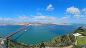 見落とす : Wide angle panoramic view from Cristo Rei Statue in Lisbon Almada 動画素材