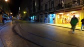 lisszabon : City of Lisbon by night - timelapse shot Stock mozgókép