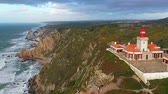 památka : Famous Cabo da Roca lighthouse at the Atlantic Ocean in Portugal Dostupné videozáznamy
