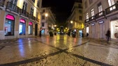 stadtplatz : City of Lisbon by night - timelapse shot Videos