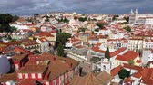 lisszabon : Amazing Alfama in the historic district of Lisbon from above