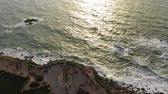 památka : The lighthouse of Cape Roca in Portugal called Cabo da Roca - aerial view