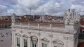 památka : Amazing architecture at Commerce Square Lisbon - the famous Praca do Comercio from above