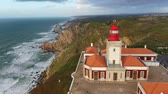 stadtplatz : Famous Cabo da Roca lighthouse at the Atlantic Ocean in Portugal Videos