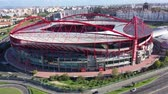 ulusal bayrağı : Aerial view over Benfica Lisbon soccer stadium called Estadio da Luz - CITY OF LISBON, PORTUGAL - NOVEMBER 5, 2019