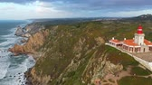 彫刻 : The lighthouse of Cape Roca in Portugal called Cabo da Roca - aerial view