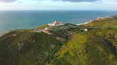 точка зрения : Cabo da Roca with its lighthouse is a famous landmark in Portugal