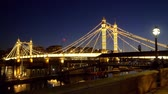 언어 : amazing Albert Bridge at Battersea London 무비클립