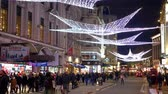 decoration of Coventry Street at Christmas time - LONDON, ENGLAND - DECEMBER 10, 2019 Filmati Stock