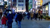 angleterre : people walk at Covent Garden in the evening - LONDON, ENGLAND - DECEMBER 10, 2019 Vidéos Libres De Droits