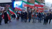 marcha : Political rally in London about Iran - LONDON, ENGLAND - DECEMBER 10, 2019 Vídeos