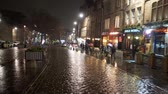 épült : Famous Grassmarket in Edinburgh at night - EDINBURGH, SCOTLAND - JANUARY 10, 2020