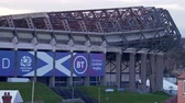 iskoçya : Murrayfield stadium in Edinburgh - home of rugby and football - EDINBURGH, SCOTLAND - JANUARY 10, 2020
