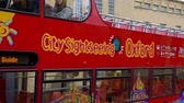 nazik : City Sightseeing bus in Oxford England - OXFORD, ENGLAND - JANUARY 3, 2020