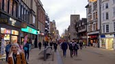 nazik : Pedestrian Zone in Oxford England - OXFORD, ENGLAND - JANUARY 3, 2020