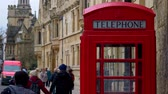 theems : Red Telephone Booth in Oxford England - OXFORD, ENGLAND - JANUARY 3, 2020