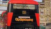 City sightseeing bus in Edinburgh - EDINBURGH, SCOTLAND - JANUARY 10, 2020