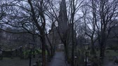 Cemetery at St Cuthbert Church in Edinburgh - EDINBURGH, SCOTLAND - JANUARY 10, 2020 動画素材