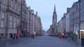 Famous Royal Mile in Edinburgh - EDINBURGH, SCOTLAND - JANUARY 10, 2020