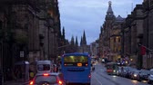 Famous Princes Street in Edinburgh - EDINBURGH, SCOTLAND - JANUARY 10, 2020