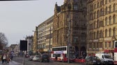 Famous Princes Street Edinburgh - EDINBURGH, SCOTLAND - JANUARY 10, 2020 動画素材