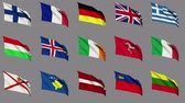 litwa : Flags of Europe (Part 2 of 4) Wideo