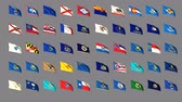 iowa : Flags of the 50 US states Stock Footage