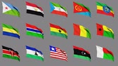 comoros : Flags Of Africa (part 2 of 4) Seamless Loop, Matte Channel