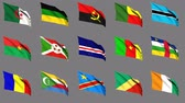 benin : Flags of Africa (part 1 of 4) Seamless Loop, Matte Channel
