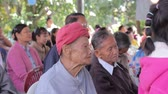 pessoal : CHIANGRAI, THAILAND - DECEMBER 14: unidentified people join Christmas ritual at old folks home on December 14, 2014 in Chiangrai, Thailand.