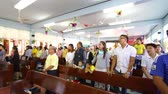 pessoal : CHIANGRAI, THAILAND - SEPTEMBER 12: unidentified people join Christmas ritual at old folks home on September 12, 2014 in Chiangrai, Thailand.