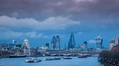 outdoors : Sunset panorama of London and river Thames