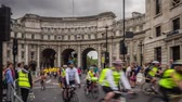 London, UK - July 2016. Action during the Prudential Ride London Freecycle event in London UK that took place over the weekend on 30 and 31 July 2016 Vídeos