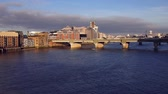 View of the Southwark Bridge at sunrise, London, England, UK