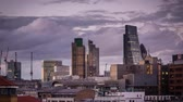 Evening timelapse of a skyline of City of London, England, UK Vídeos